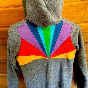 Aviator Nation kids size 8 rare rainbow hoodie! 🌈